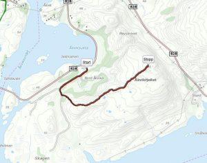Kart over løype Foto: turkarthelgeland.no